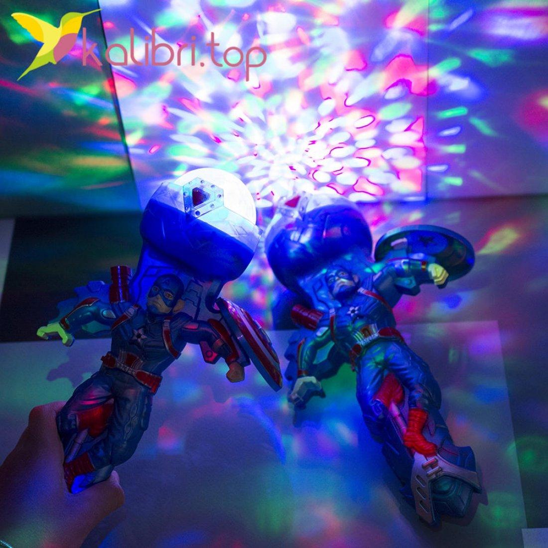 Игрушечный светящийся микрофон Капитан Америка оптом фото 3