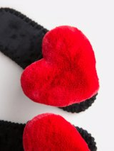Женские домашние тапочки с сердечками цвета Кардинал, Family Story - 4