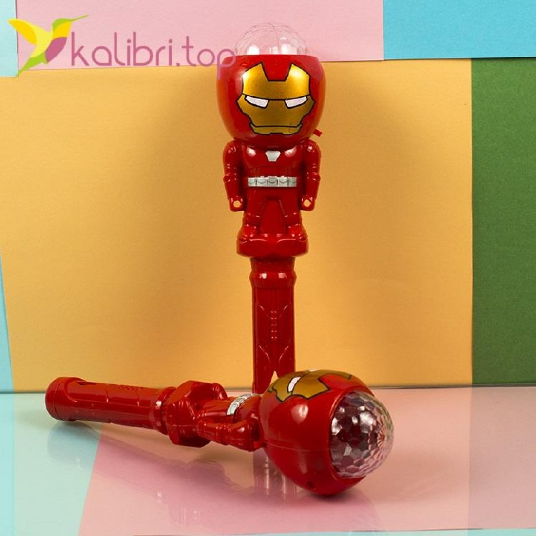 Светящийся микрофон Железный человек фото 1