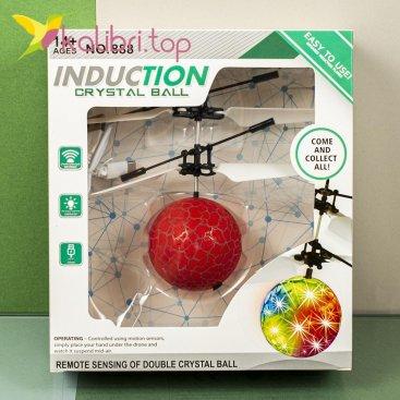 Сенсорный светящийся шар Flying Ball красный оптом фото 47