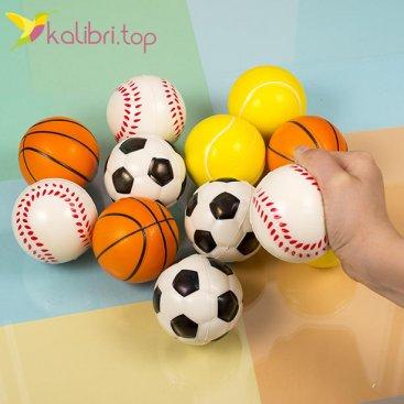 Мячики мягкие, поролоновые микс 6,3 см оптом фото 2
