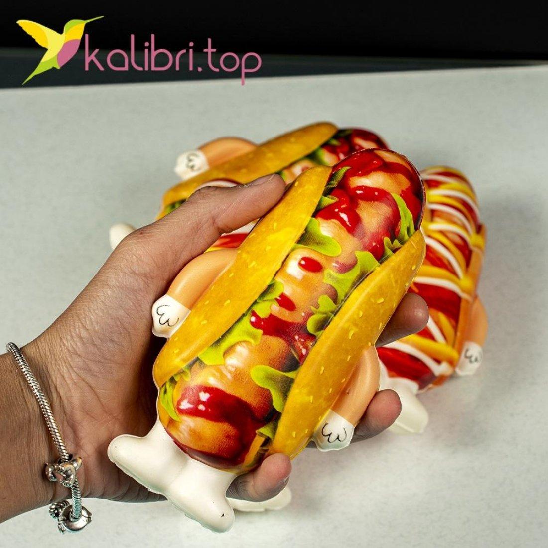 Мягкая игрушка сквиш хот-дог оптом фото 34