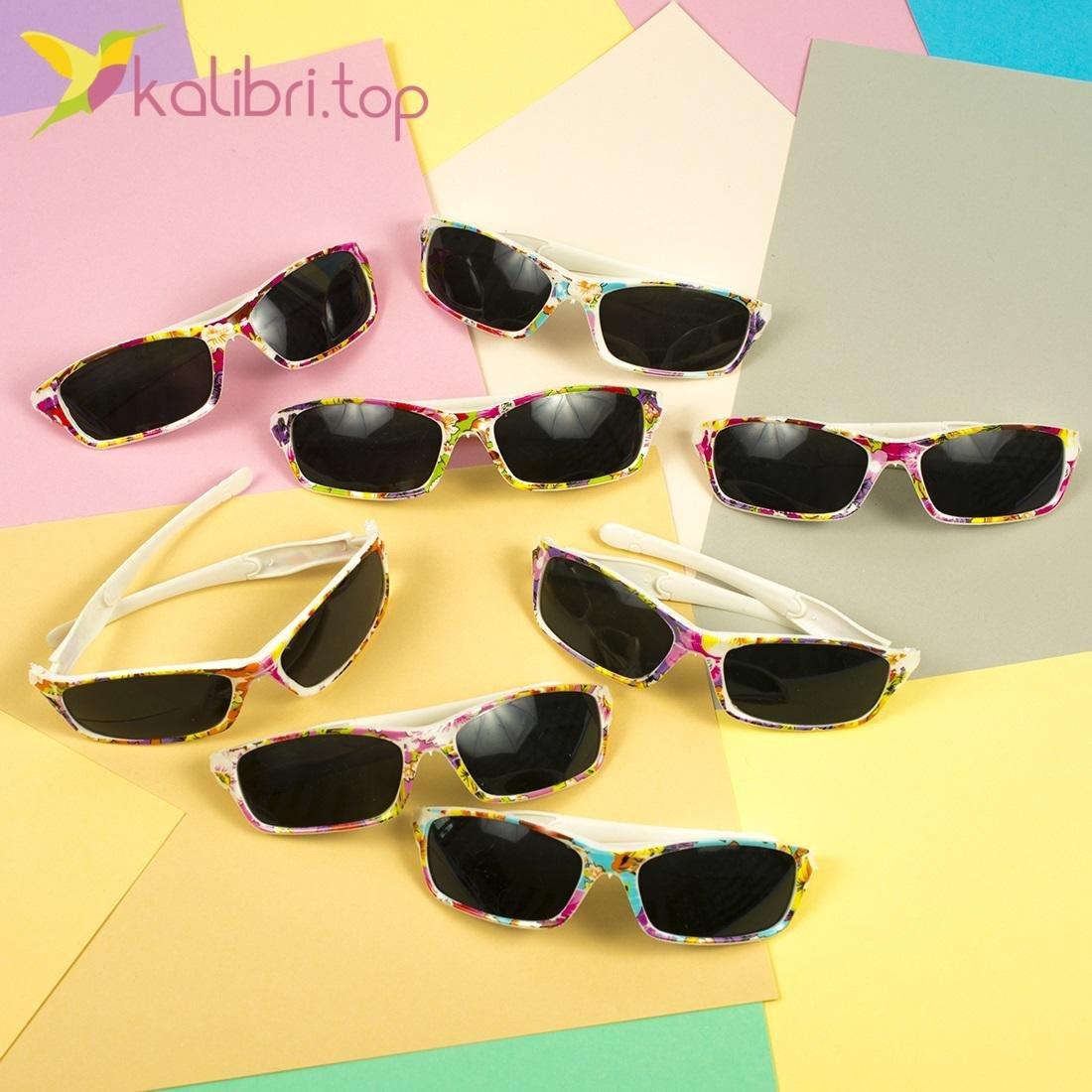 Детские солнцезащитные очки Лето, оптом - фото 1