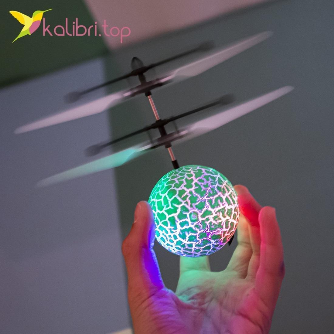 Летающий, светящийся шар Flying Ball зеленый оптом фото 29