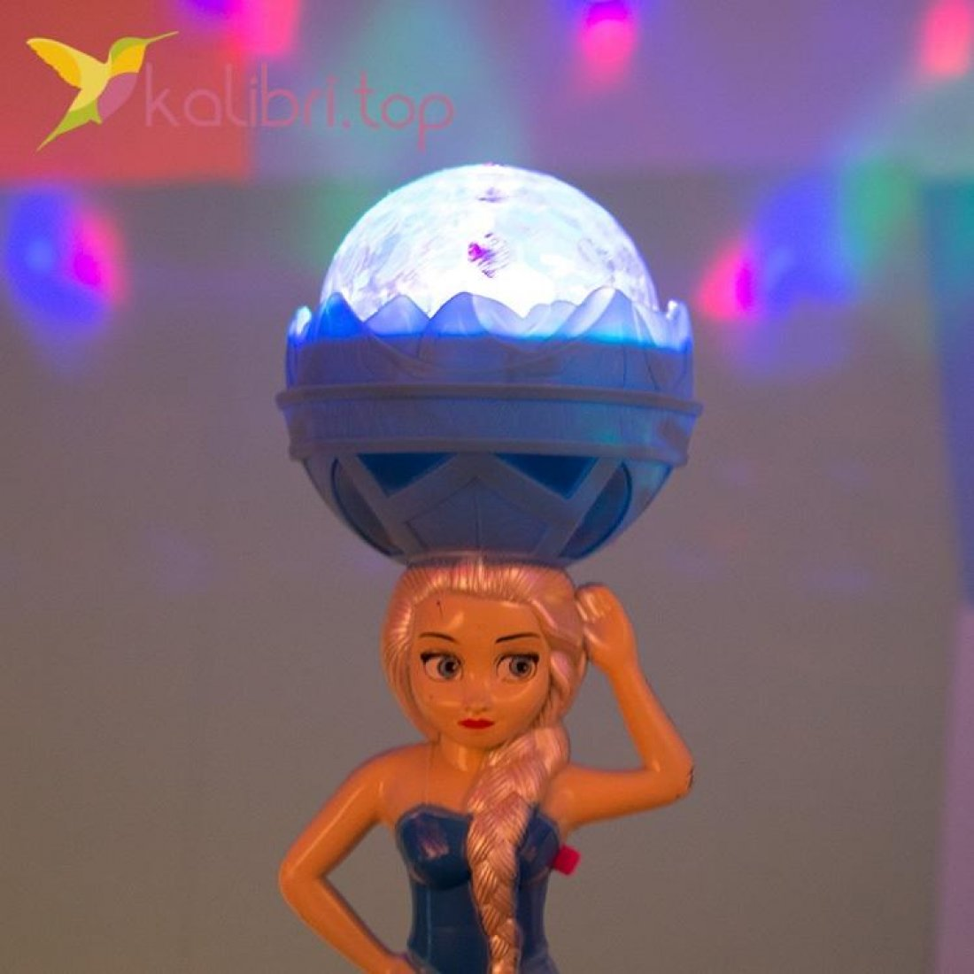Светящиеся микрофон LED Эльза и Анна, оптом фото 3
