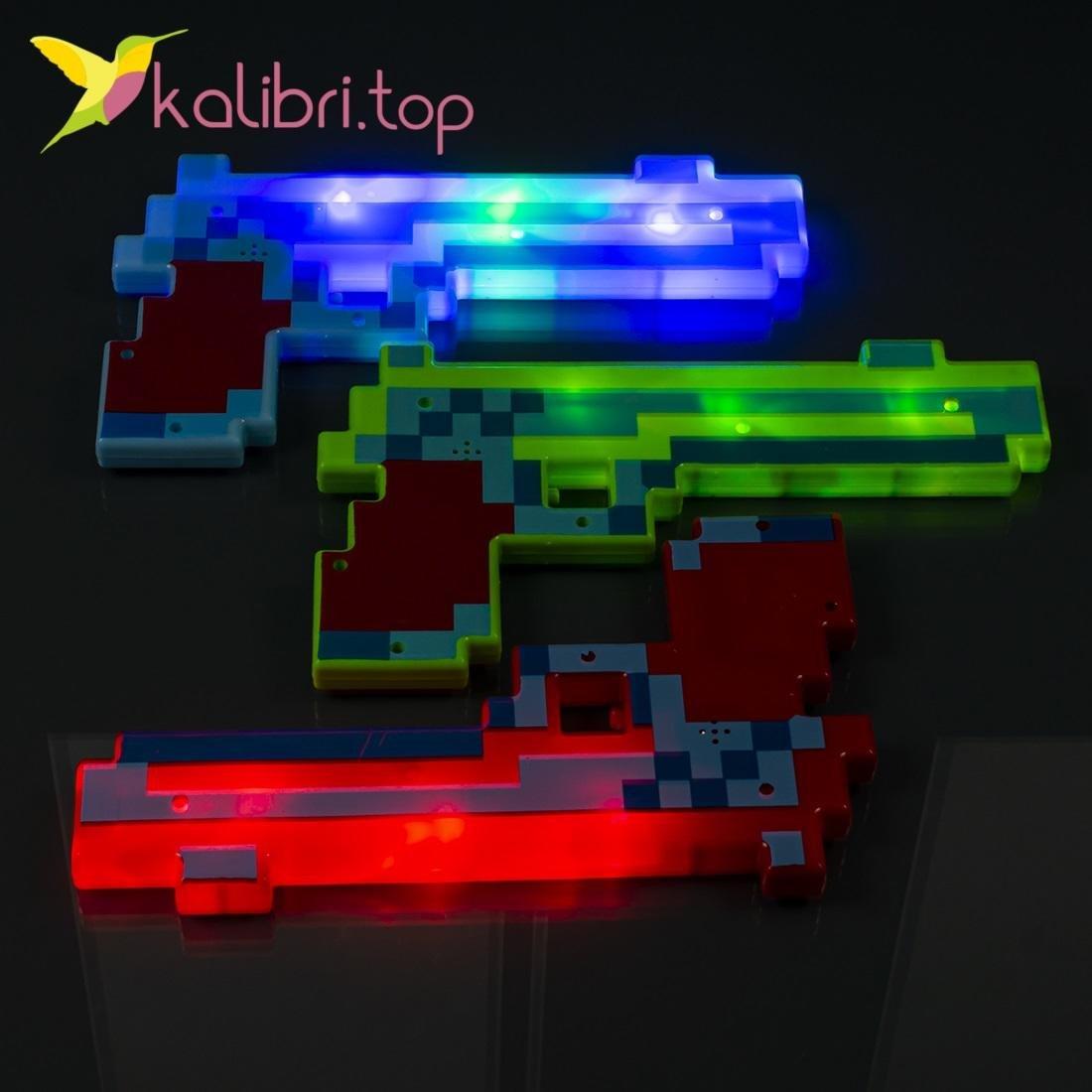 Пистолет Майнкрафт пиксельный большой оптом фотография 14