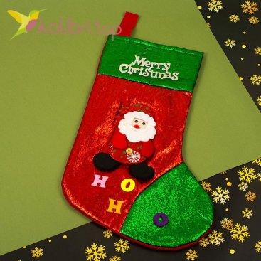 Сапожок для подарков большой с Дедом Морозом 1, оптом фото 1