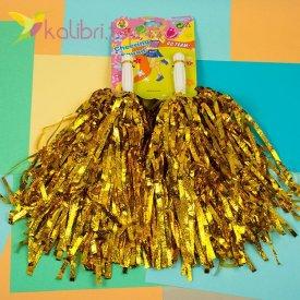 Пампоны для черлидинга золотой, оптом фото 1