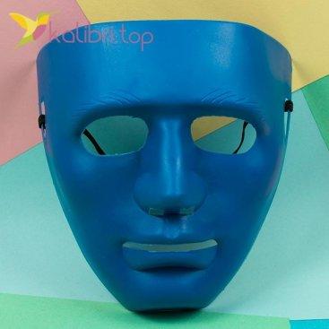 Маска карнавальная Каонаси синий, оптом фото 1