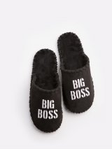 Мужские домашние тапочки Big Boss черные закрытые, Family Story - 1