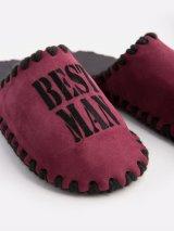 Мужские домашние тапочки Best Man сливовые закрытые, Family Story - 3