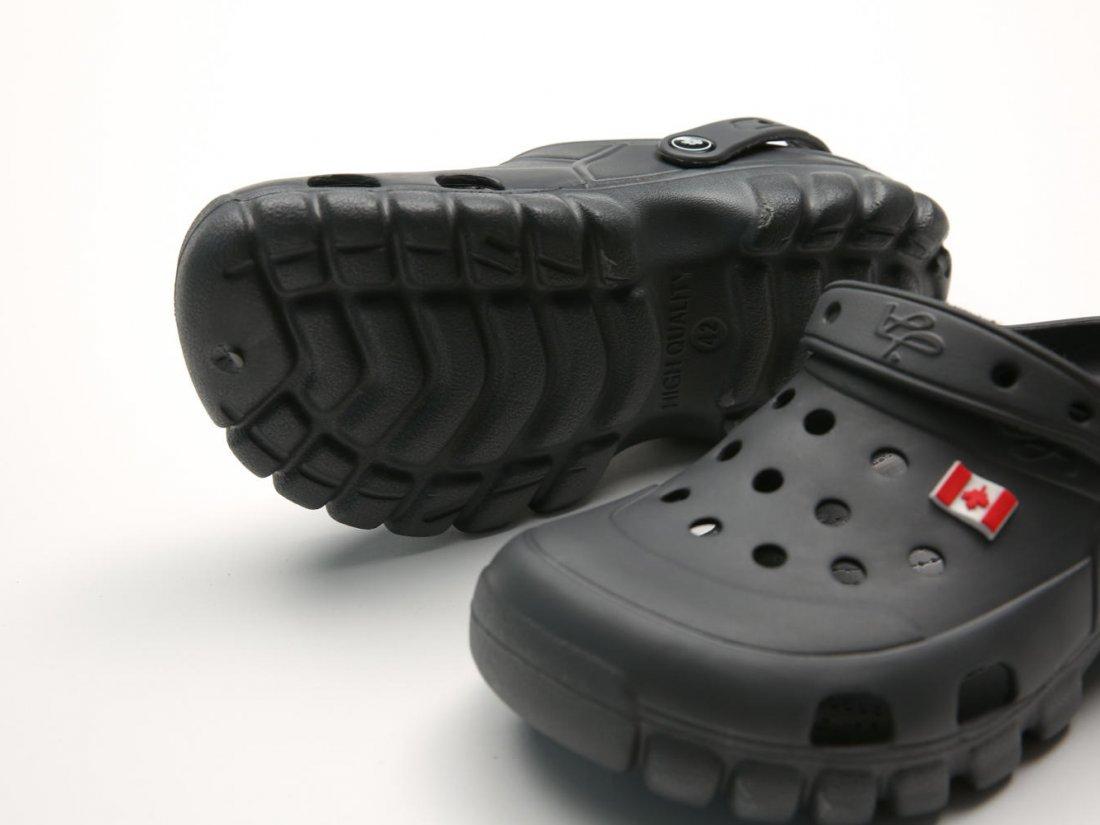 Графитовые кроксы оптом C23-40, 4rest, женская обувь оптом, фото 3