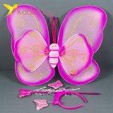 Набор карнавальный крылья феи золотисто малиновый оптом фото 1478