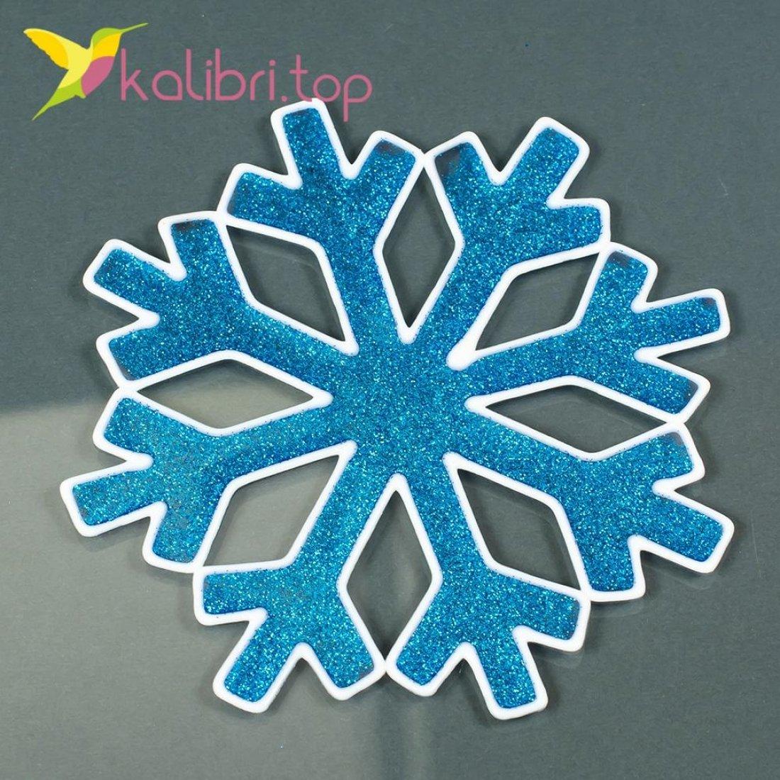 Новогодние силиконовые наклейки на окна Снежинки оптом фото 01