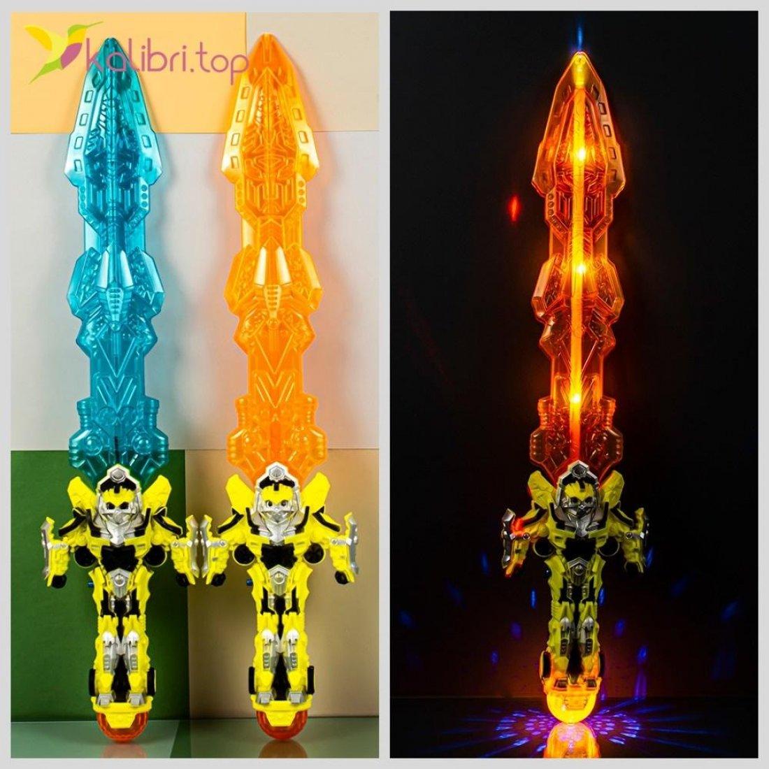 Светящийся меч с супер героем Бамблби оптом фото 788