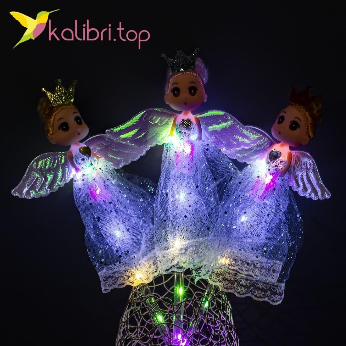 Светящиеся LED палочки девочки принцессы голубые оптом фото 47