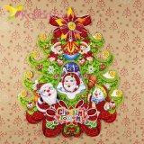 Новогодние наклейки елка, снеговики 58 см оптом фото 134