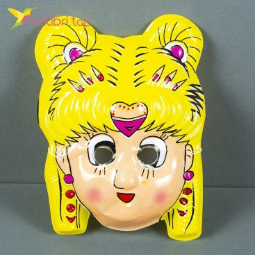 Детская пластиковая маска на утренник Девочка оптом фото 7354