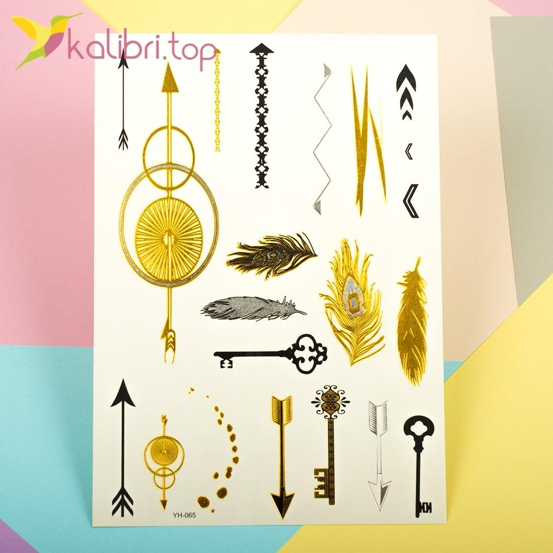 Флеш-татуировки золотые украшения YH-065 оптом фото 1