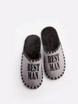 Мужские домашние тапочки Best Man графитовые закрытые, Family Story - 1