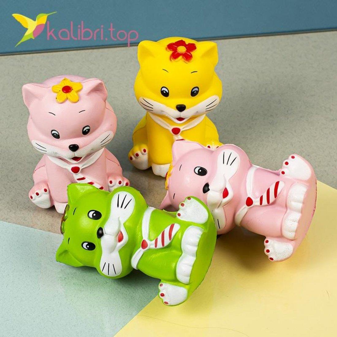 Детская игрушка сквиш Котик оптом фото 6