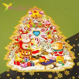 Новогодние наклейки Ёлка средний, оптом фото 1