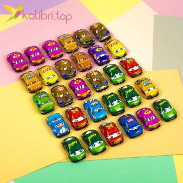 Машинки инерционные цветные, оптом - фото 1