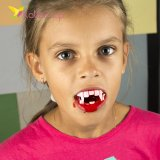Зубы вампира с кровью на хэллоуин оптом фото 02