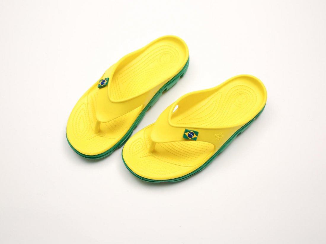 Желтые кроксы вьетнамки C29-40, 4rest, женская обувь оптом, фото 2