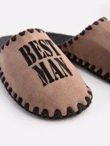 Мужские домашние тапочки Best Man мокко закрытые, Family Story - 3