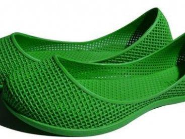 Женские балетки оптом 0919 ПВХ зеленые, 4rest, обувь оптом