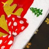 Новогодняя шапка Деда Мороза бантик золото, оптом фото 2