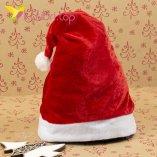 Колпак Деда Мороза красный оптом фото 48