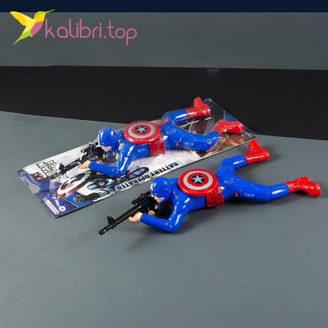 Игрушка ползающий Капитан Америка оптом фото 654
