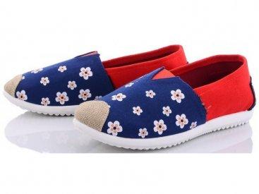 Женские слипоны оптом 16 W ромашка синяя, 4rest, обувь оптом