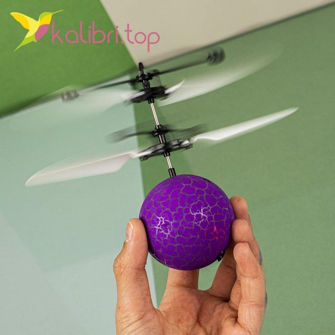 Сенсорный светящийся шар Flying Ball фиолетовый оптом фото 7485
