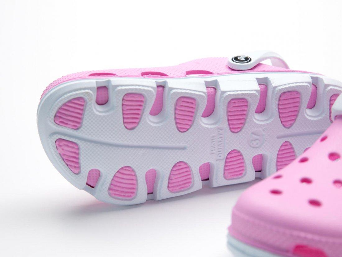 Розовые кроксы оптом C01, 4rest, женская обувь оптом, фото 3