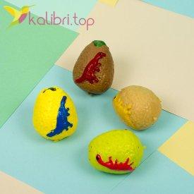 Детская игрушка антистресс Яйцо динозавра цветное - фото 1