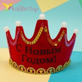 Корона светящиеся красный, оптом фото 2