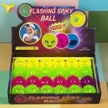 Мячики ёжики светящиеся маленькие оптом фото 1