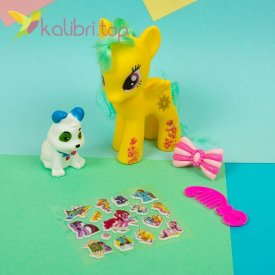 Детская игрушка My Little Hors с наклейками, оптом фото 3