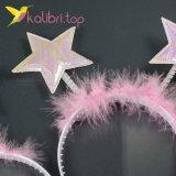 Новогодний обруч звезда розовый оптом фото 46