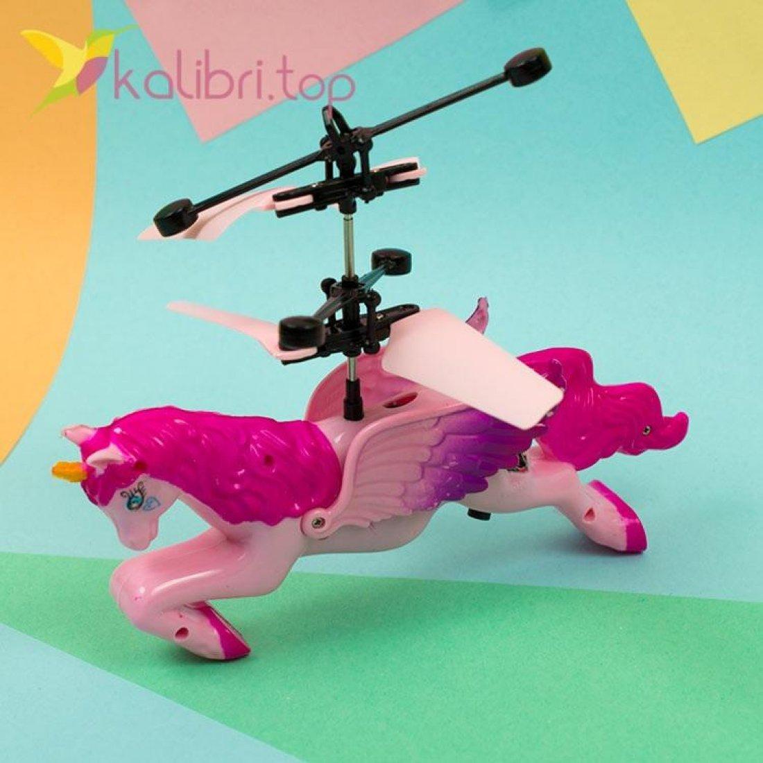 Летающий, светящийся единорог розовый, оптом фото 1