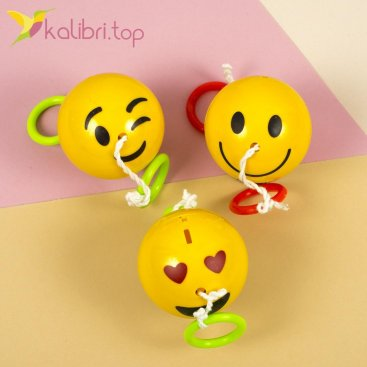Мячи растягивающиеся светящиеся со звуком Смайлики - Kalibri