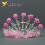 Карнавальная корона пушок розовый оптом фото 558