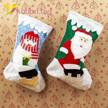 Сапог Деда Мороза для подарков оптом HQ-25 оптом фото 8575