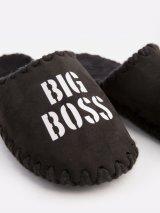 Мужские домашние тапочки Big Boss черные закрытые, Family Story - 3