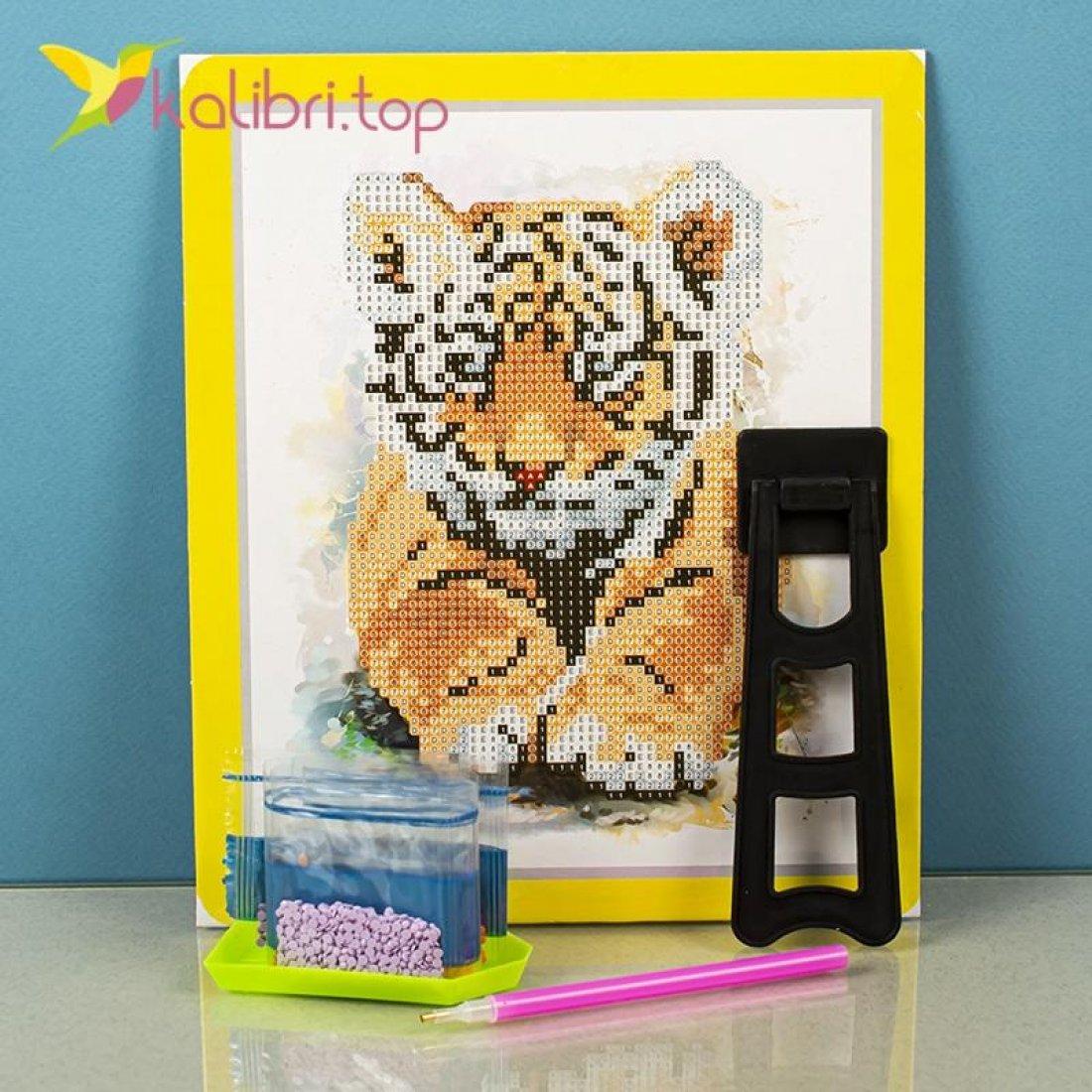 Алмазная живопись по номерам Тигр 21*25 см оптом фото 2020