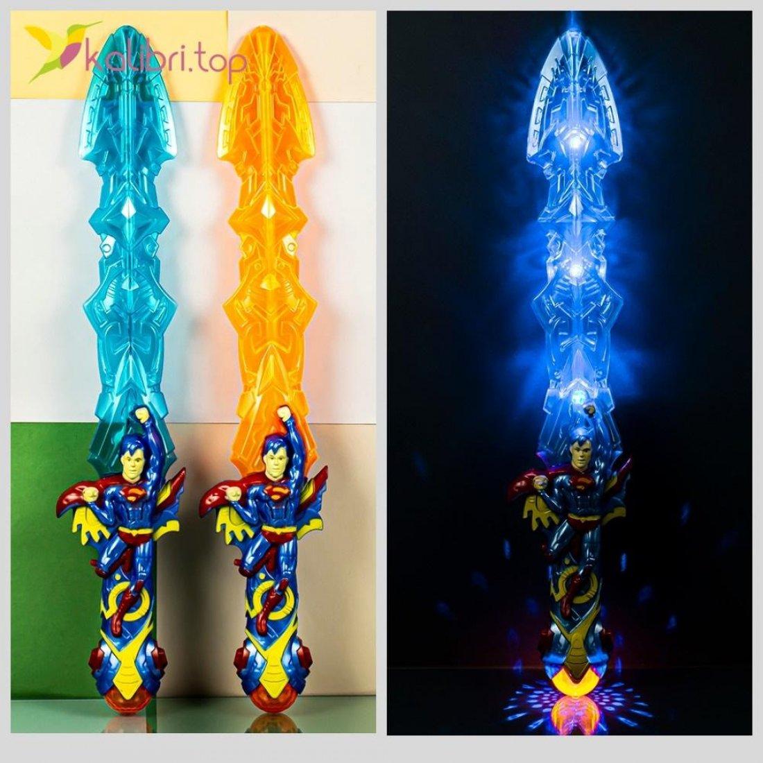 Светящийся меч с супергероем Супермен оптом фото 44