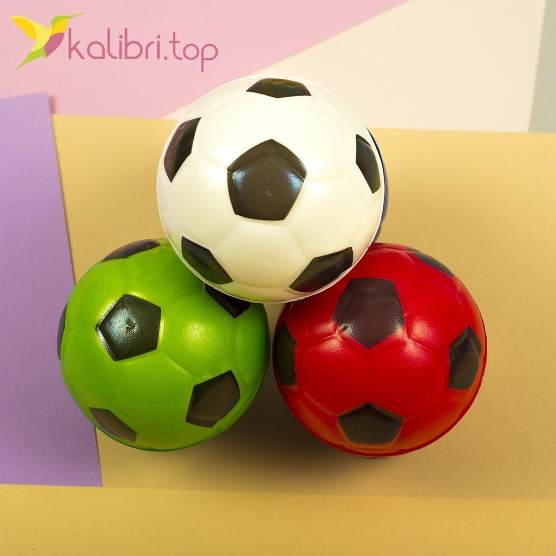 Мячики мягкие, поролоновые Футбол, оптом - фото 2